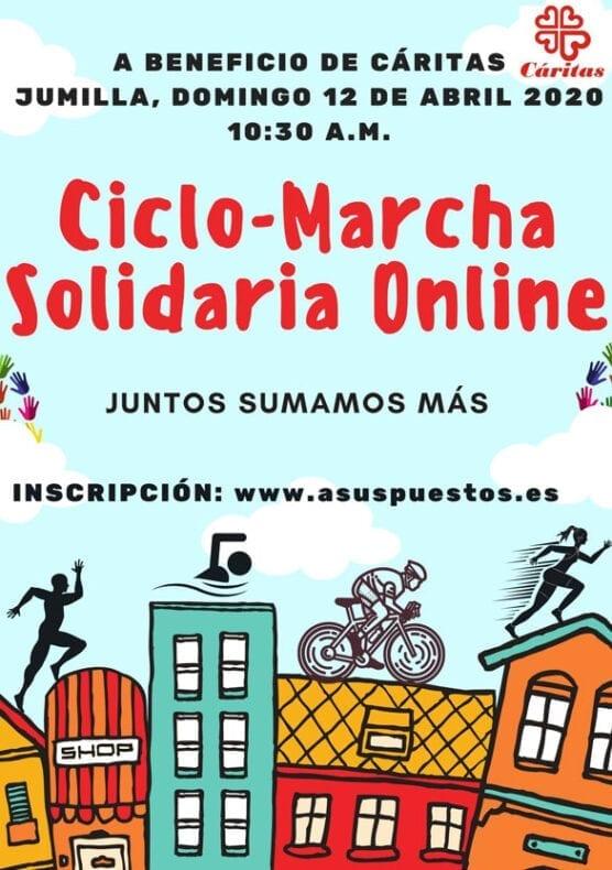 Cartel de la actividad deportiva y solidaria para este próximo domingo