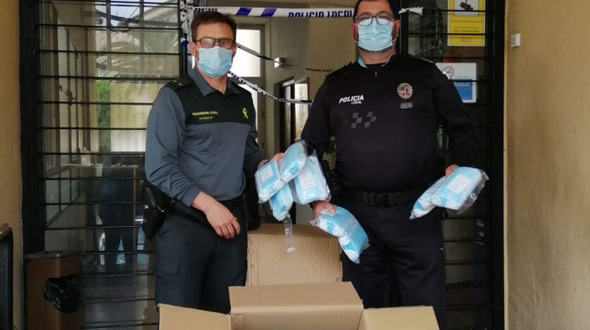 Mañana y el miércoles se repartirán en Jumilla 6.000 mascarillas entre los trabajadores que se reincorporan a su actividad laboral