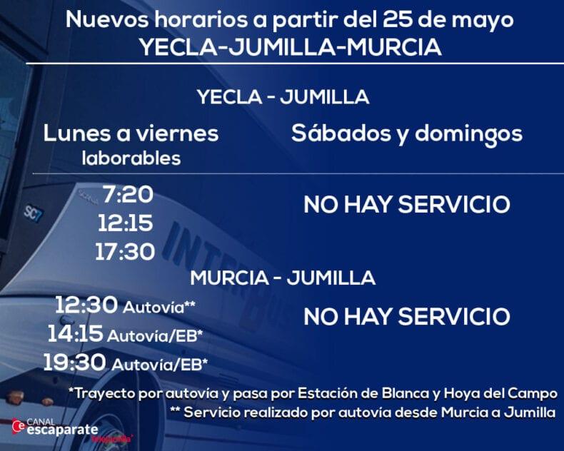 Rutas de autobus a Jumilla