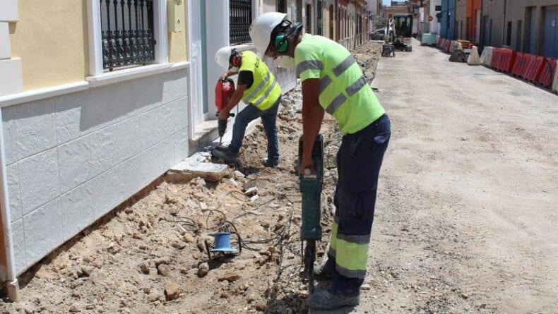 Obras en la calle San Blas