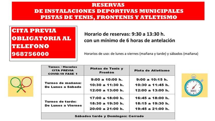 El próximo lunes comienza la reapertura de las instalaciones deportivas municipales