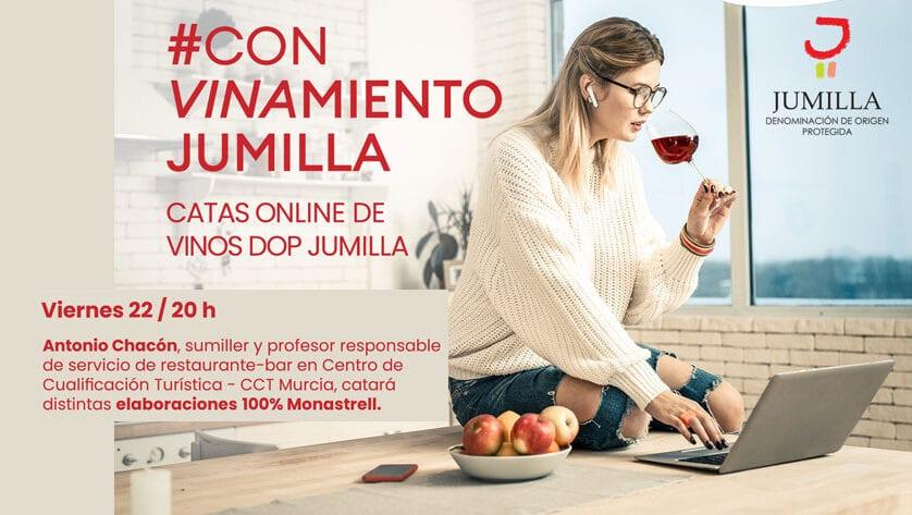 El CRDOP Jumilla finaliza desde Murcia su ciclo de catas online #Convinamiento