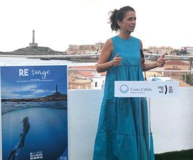 La consejera de Turismo, Cristina Sánchez en un momento de la presentación