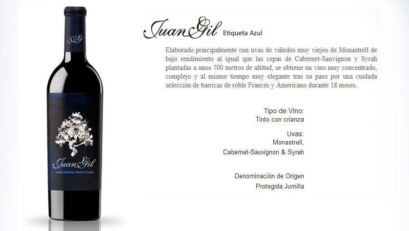 """Wine Spectator mete en el pódium de los vinos """"altamente recomendable"""" a Juan Gil Etiqueta Azul"""