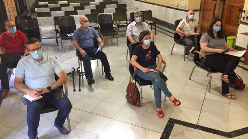 Las Juntas de Gobierno se celebran en el Salón de Plenos para mantener la distancia de seguridad