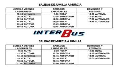 INTERBUS Jumilla-Murcia y Murcia-Jumilla