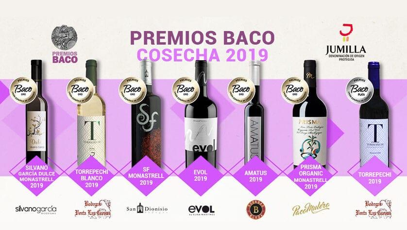 Seis oros y una plata para la DOP Jumilla en los premios Baco 2019