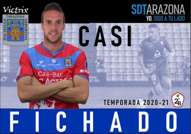 José Ruiz 'Casi' ficha por el SD Tarazona de Segunda División B