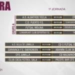 La Federación de Fútbol de la Región de Murcia anuncia el inicio de la competición del Grupo XIII de Tercera División de Fútbol Sala para el próximo 1 de noviembre