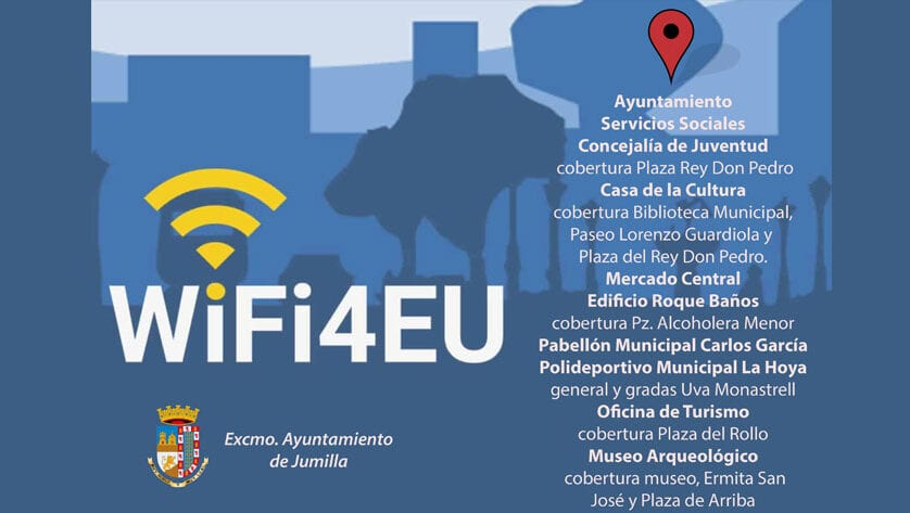 El Ayuntamiento instala 15 puntos de acceso a internet gratuito a través del Programa WiFi4EU