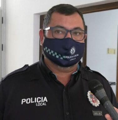 Salvador Gómez, Subinspector y Jefe accidental de la Policía Local de Jumilla