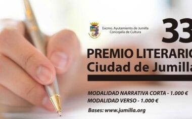 La Junta de Gobierno aprueba la convocatoria del XXXIII Premio Literario Ciudad de Jumilla