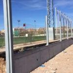 En marcha las obras de reconstrucción del cerramiento del campo de fútbol Antonio Ibáñez