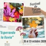 Cultura organiza el Festival de Poesía Online 'Esperando la lluvia' del 19 al 23 de octubre