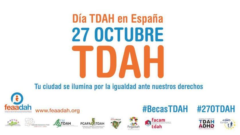 Jumilla se ilumina de naranja por la igualdad de los derechos de los afectados por TDAH