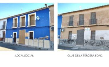 Próxima rehabilitación de las fachadas del Local Social y el Club de la 3ª Edad de La Alquería