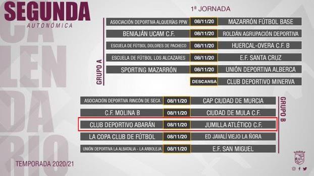 Partidos de la 1ª jornada en Segunda Autonómica