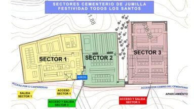 Sectores del Cementerio para el día de Todos los Santos
