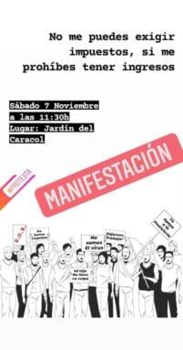 Convocatoria de manifestación
