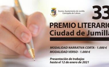 Abierto el plazo para presentar trabajos al XXXIII Premio Literario Ciudad de Jumilla