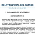 Publicada la orden que prorroga el estado de alarma hasta el 9 de mayo de 2021