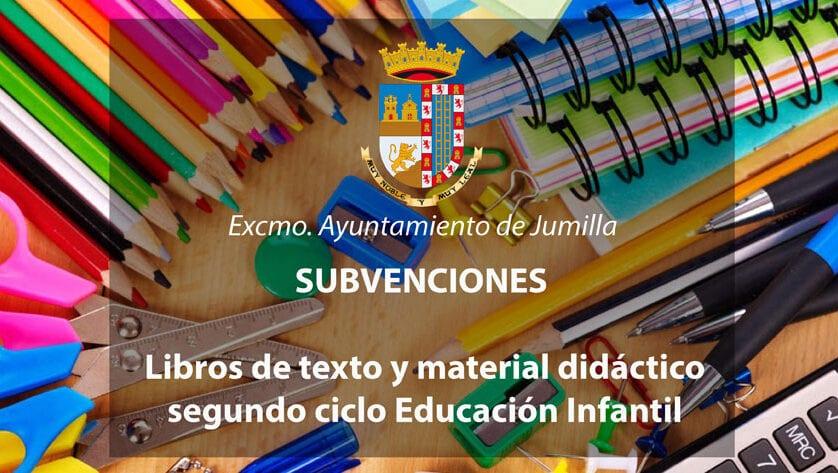 Concedidas 223 subvenciones para libros y material de segundo ciclo de Educación Infantil