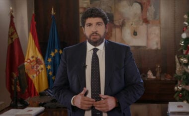 """López Miras apela a """"un 2021 de unidad"""" para """"dejar atrás la pandemia y encarar con éxito y esperanza la recuperación económica y social"""""""