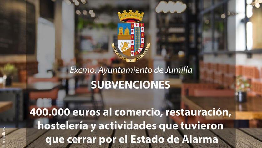 Aprobadas 189 subvenciones al comercio, restauración, hostelería y otras actividades que tuvieron que cerrar por el Estado de Alarma