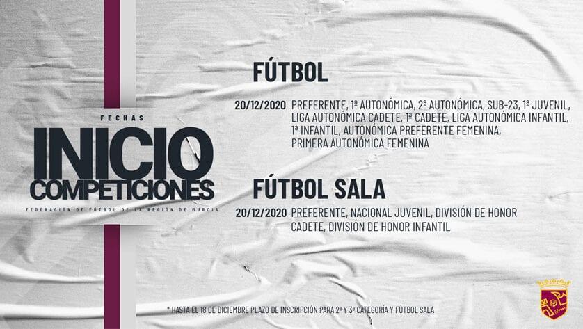 Ya se conoce la fecha de inicio de las competiciones de categoría regional de fútbol y fútbol sala