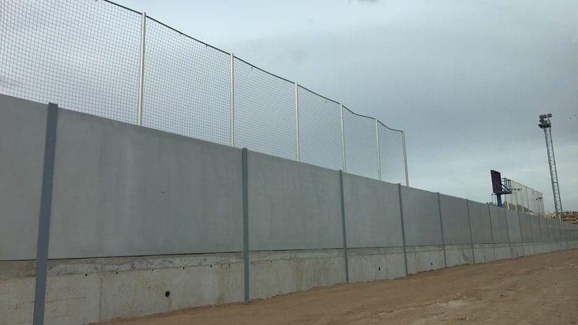 Zona exterior del muro