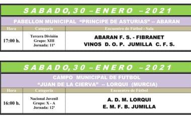 Undécima jornada para el Vinos DOP Jumilla FS e inicio de la segunda vuelta para los juveniles de la Escuela de Fútbol