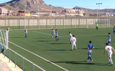 Empate entre los juveniles de la Escuela de Fútbol y el Real Murcia en Liga Nacional