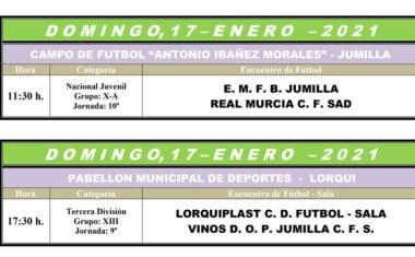 El Vinos DOP Jumilla FS y el juvenil de Liga Nacional de la Escuela de Fútbol pelearán por los 3 puntos esta jornada