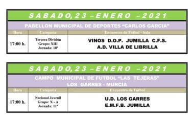 Nueva jornada para el Vinos DOP Jumilla FS y el juvenil de Liga Nacional de la Escuela