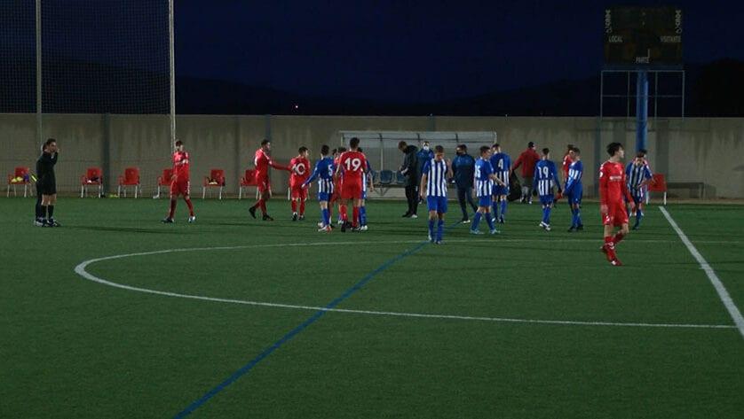 Tropiezo de los juveniles de Liga Nacional de la Escuela de Fútbol en el primer partido de 2021