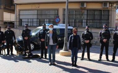 Presentado el nuevo vehículo para la Unidad Canina de la Policía Local de Jumilla