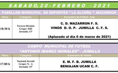 Los juveniles de Liga Nacional reciben en casa al Beniaján y el Vinos DOP Jumilla FS ve aplazado su encuentro