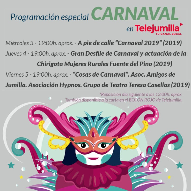 Programación primera semana especial Carnaval