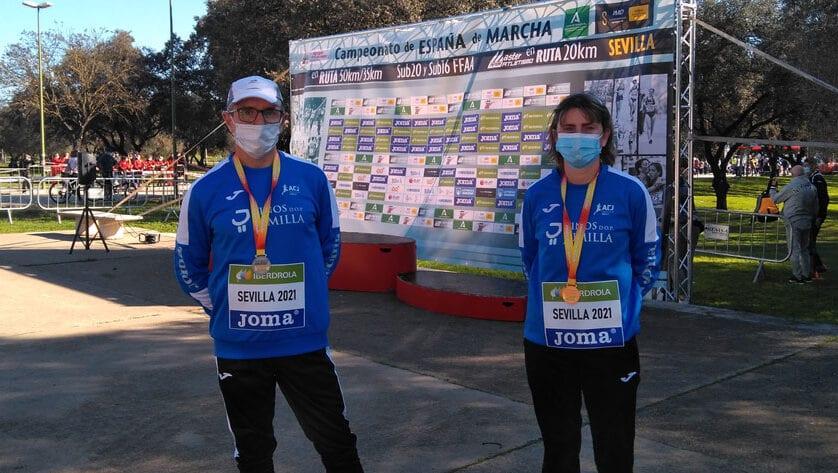 Dos medallas para el Athletic Club Vinos DOP Jumilla en el Campeonato de España Máster de Marcha en Ruta