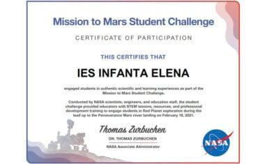 Alumnos del IES Infanta Elena estudian Marte