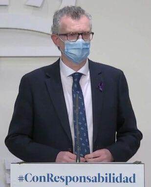 Juan José Pedreño, Consejero de Salud de la Región de Murcia