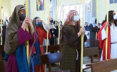Los actos litúrgicos de Semana Santa se están celebrando en las distintas parroquias de la ciudad
