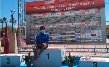 Eduardo Minchala se codea con la élite nacional y mundial en el Campeonato de España Absoluto de 20 Km Marcha