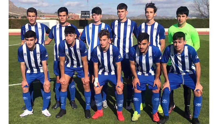 El juvenil de Liga Nacional de la Escuela de Fútbol vuelve al Uva Monastrell con empate