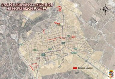 Plan de asfaltado y aceras en el casco urbano de Jumilla