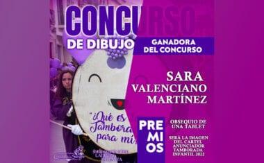 Sara Valenciano Martínez se lleva el concurso de dibujo ¿Qué es la Tamborada para mi?