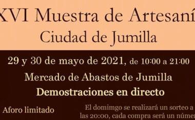 Tras dos años de parón, se va a celebrar la XVI Muestra de Artesanía de Jumilla