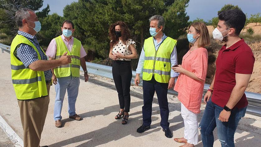Fomento refuerza la protección de la carretera de la pedanía jumillana de La Celia dañada por la dana