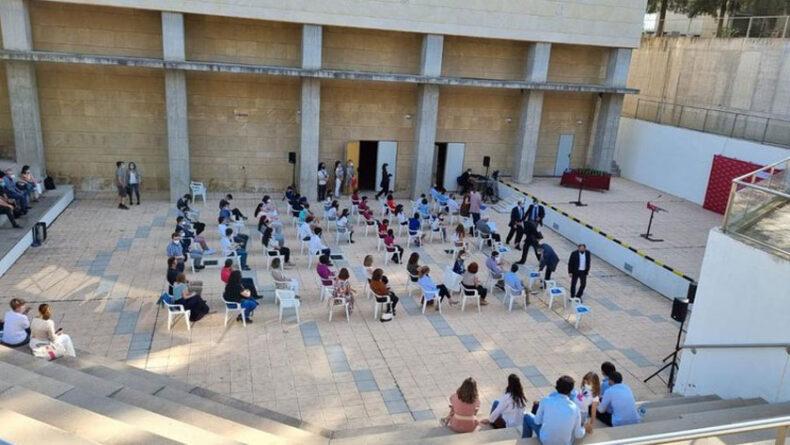 Acto de entrega en el Ágora del Centro Social del Campus de Espinardo