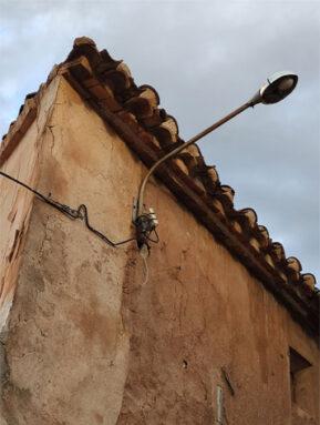 Farola en una calle del Casco Antiguo